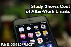 Study Shows Cost of After-Work Emails