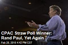 CPAC Straw Poll Winner: Rand Paul, Yet Again