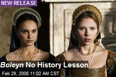 Boleyn No History Lesson