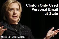 Clinton Used Personal Email at State, Stirring Transparency Ruckus