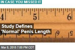 Study Defines 'Normal' Penis Length