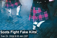 Scots Fight Fake Kilts