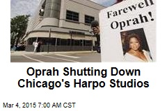 Oprah Shutting Down Chicago's Harpo Studios