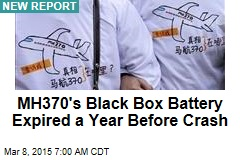 MH370's Black Box Battery Expired a Year Before Crash