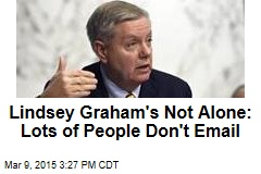 Lindsey Graham's Not Alone: Lots of People Don't Email