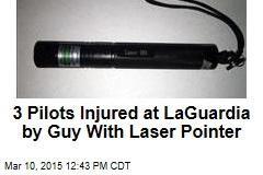 3 Pilots Injured at LaGuardia by Guy With Laser Pointer