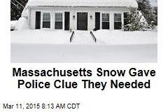 Massachusetts' Snow Gave Police Clue They Needed