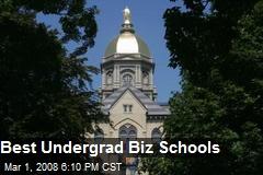 Best Undergrad Biz Schools