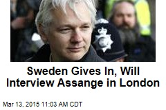 Sweden Gives In, Will Interview Assange in London