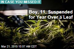 Boy, 11, Suspended for Year Over a Leaf