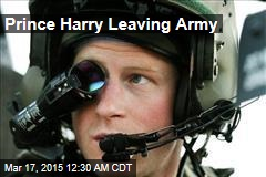Prince Harry Leaving Army