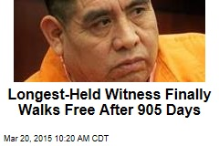 Longest-Held Witness Finally Walks Free After 905 Days