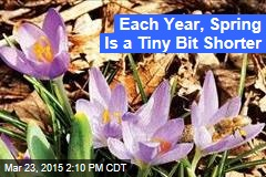 Each Year, Spring Is a Tiny Bit Shorter