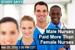 Male Nurses Paid More Than Female Nurses