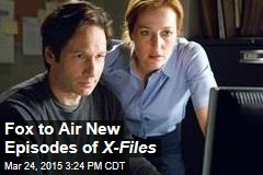 Fox to Air New Episodes of X-Files