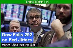 Dow Falls 292 on Fed Jitters