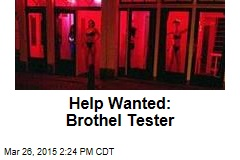Help Wanted: Brothel Tester