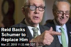 Reid Backs Schumer to Replace Him