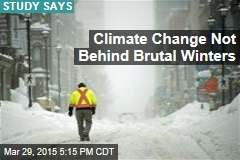 Climate Change Not Giving Us Extreme Winters