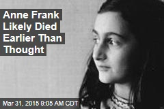Anne Frank Likely Died Earlier Than Thought
