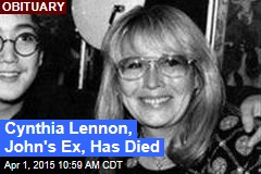 Cynthia Lennon, John's Ex, Has Died
