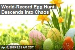 World-Record Egg Hunt Descends Into Shoving, Chaos