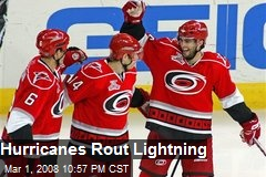 Hurricanes Rout Lightning