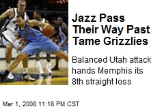 Jazz Pass Their Way Past Tame Grizzlies