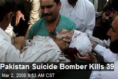 Pakistan Suicide Bomber Kills 39