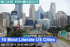 10 Most Literate US Cities