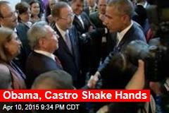 Obama, Castro Shake Hands