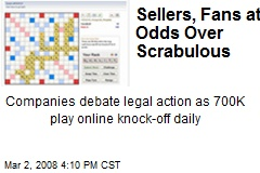 Sellers, Fans at Odds Over Scrabulous