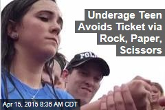 Underage Teen Avoids Ticket via Rock, Paper, Scissors