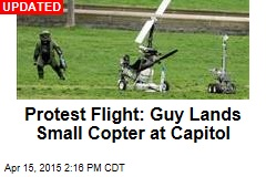 Guy Busted After Landing Small Copter at Capitol
