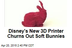 Disney's New 3D Printer Churns Out Soft Bunnies