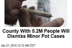County With 5.2M People Will Dismiss Minor Pot Cases