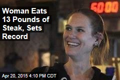 124-Pound Woman Eats 3 Big Steaks in 20 Minutes