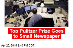 Top Pulitzer Prize Goes to Small Newspaper