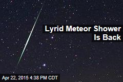 Meteor Shower Peaks Tonight