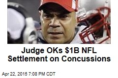 Judge OKs $1B NFL Settlement on Concussions