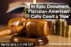 In Epic Rant, 'Floridian-American' Calls Court a 'Hoe'