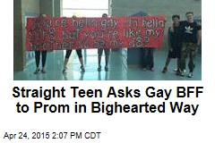 Straight Teen Asks Gay BFF to Prom in Bighearted Way