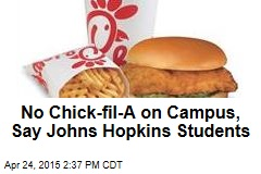 No Chick-fil-A on Campus, Say Johns Hopkins Students