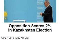 Opposition Scores 2% in Kazakhstan Election