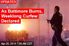 Weeklong Curfew Declared in Baltimore
