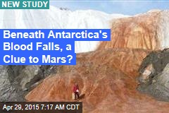 Beneath Antarctica's 'Blood Falls', a Clue to Mars?