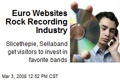 Euro Websites Rock Recording Industry