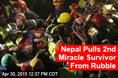 Nepal Pulls 2nd Miracle Survivor From Rubble