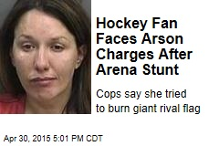 Hockey Fan Faces Arson Charges After Arena Stunt