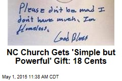 NC Church Gets 'Simple but Powerful' Gift: 18 Cents
